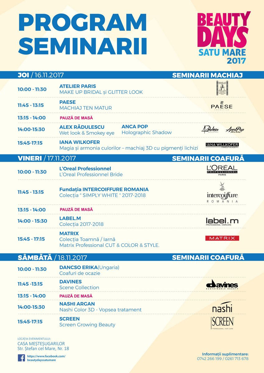 Beauty days 2017 - Program Seminarii